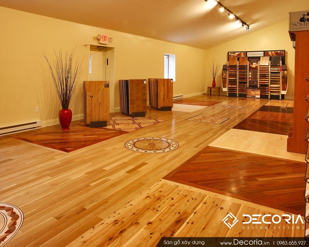 Mẫu sàn gỗ đẹp cho biệt thự 2017