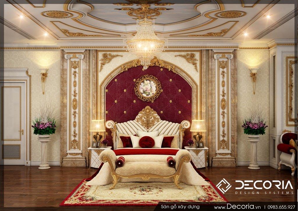 Mẫu sàn gỗ biệt thự cổ điển