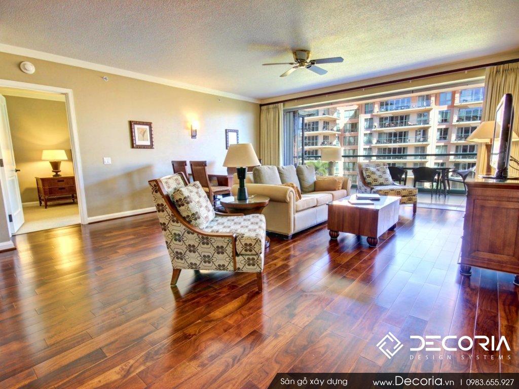 Mẫu sàn gỗ chung cư