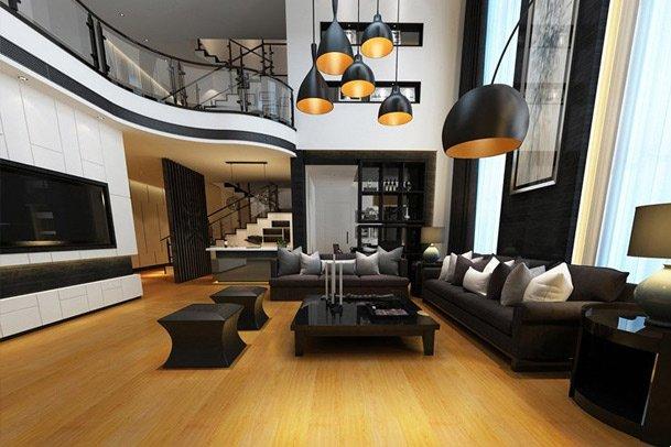Sàn gỗ biệt thự hiện đại