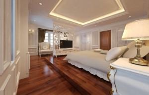Mẫu sàn gỗ biệt thự màu cánh gián