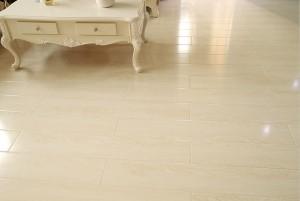 Mẫu sàn gỗ biệt thự màu trắng