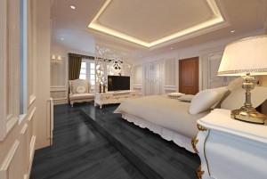 Mẫu sàn gỗ biệt thự màu đen