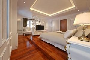 Mẫu sàn gỗ biệt thự màu nâu