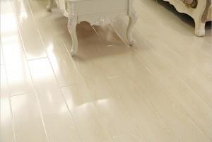 Mẫu sàn gỗ nhà ở màu trắng