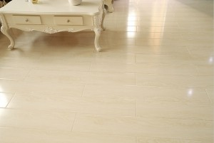 Mẫu sàn gỗ chung cư màu trắng