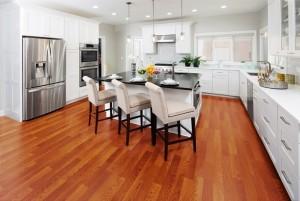 Mẫu sàn gỗ chung cư màu nâu