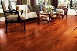 Mẫu sàn gỗ tự nhiên màu cánh gián