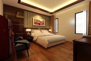 Mẫu sàn gỗ tự nhiên màu nâu