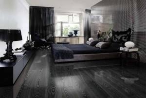Mẫu sàn gỗ tự nhiên màu đen