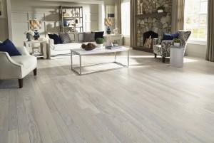 Mẫu sàn gỗ tự nhiên màu ghi đá