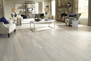Mẫu sàn gỗ tự nhiên màu trắng