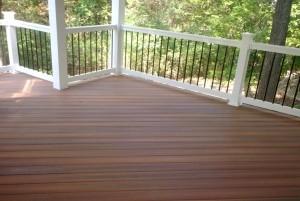 Mẫu sàn gỗ ngoài trời màu hạt dẻ