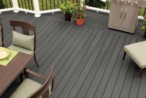 Mẫu sàn gỗ ngoài trời màu đen
