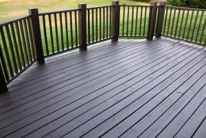 Mẫu sàn gỗ ngoài trời màu ghi đá