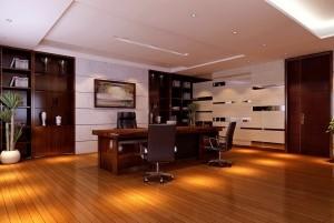 Mẫu sàn gỗ văn phòng màu cánh gián
