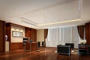Mẫu sàn gỗ văn phòng màu nâu