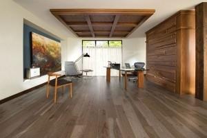 Mẫu sàn gỗ văn phòng màu hạt dẻ