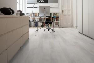 Mẫu sàn gỗ văn phòng màu ghi đá