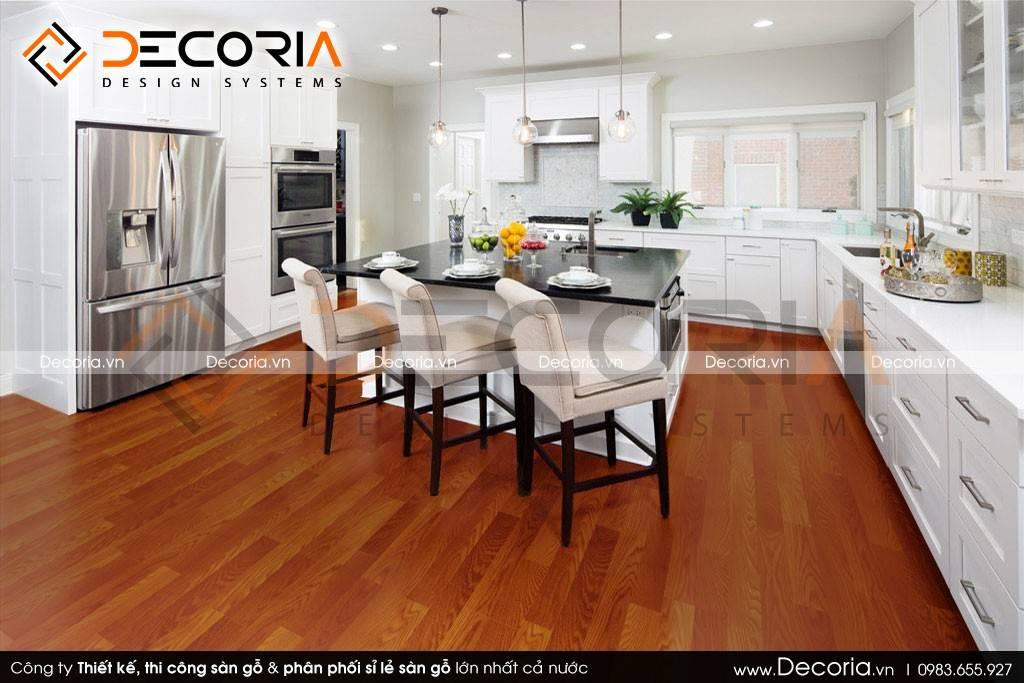 Mẫu thiết kế sàn gỗ công nghiệp giá rẻ biệt thự