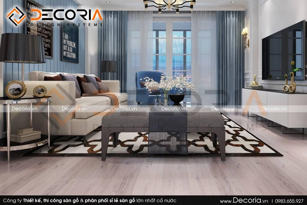 Mẫu thiết kế sàn gỗ công nghiệp giá rẻ nhà ở