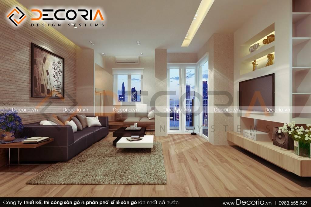 Mẫu thiết kế sàn gỗ công nghiệp giá rẻ nhà ống