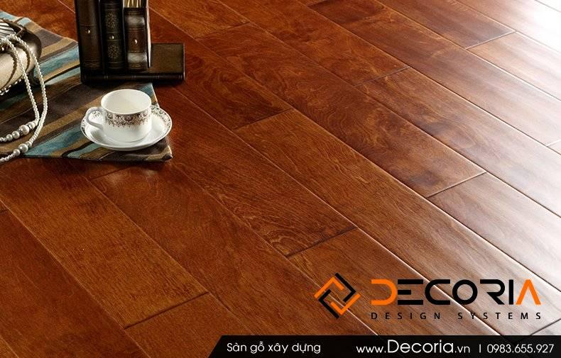 Mẫu thiết kế sàn gỗ công nghiệp giá rẻ quán Cafe