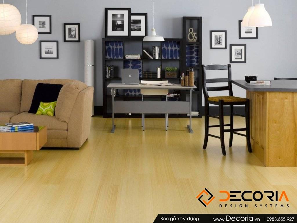 Mẫu thiết kế sàn gỗ công nghiệp cao cấp phòng làm việc