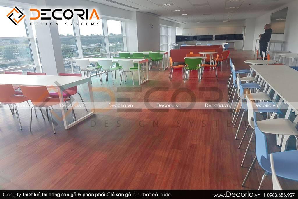 Mẫu thiết kế sàn gỗ công nghiệp giá rẻ phòng học